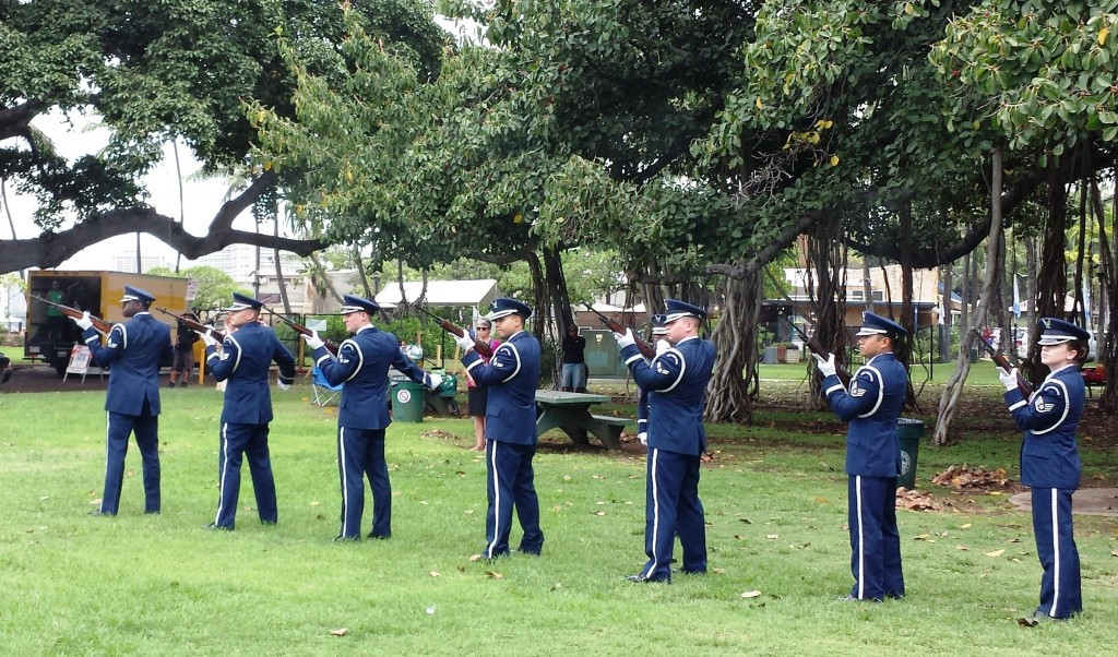 2014 Memorial Day ceremony at the Waikiki War Memorial Natatorium