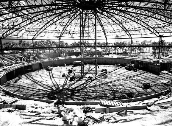 3 1963-03-13 Blaisdell Arena dome construction